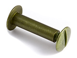 Olive Metallic Aluminum Chicago Screws Posts & Screws